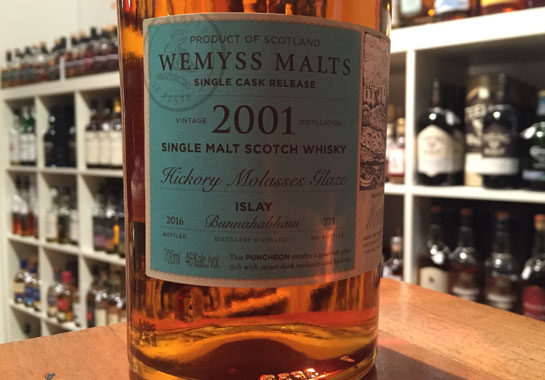 bunnahabhain-hickory-molasses-wemyss-whisky